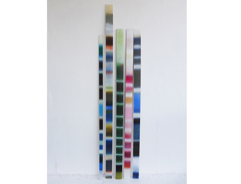 Wittgenstein's Rules' Pigment and acrylic on Panels - Dimensions variable